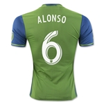 Seattle Sounders 2016 ALONSO Authentic Home Soccer Jersey