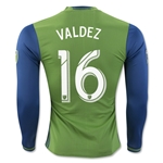 Seattle Sounders 2016 VALDEZ LS Authentic Home Soccer Jersey