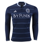 Sporting KC 2016 LS Authentic Away Soccer Jersey