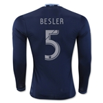 Sporting KC 2016 BESLER LS Authentic Away Soccer Jersey