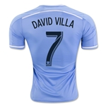 New York City FC 2016 DAVID VILLA Authentic Home Soccer Jersey