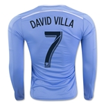 New York City FC 2016 DAVID VILLA LS Authentic Home Soccer Jersey