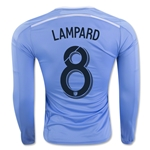 New York City FC 2016 LAMPARD LS Authentic Home Soccer Jersey
