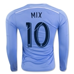 New York City FC 2016 MIX LS Authentic Home Soccer Jersey