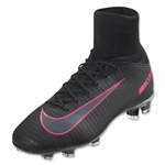 Nike Junior Mercurial Superfly V FG (Black/Pink Blast)