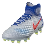 Nike Women's Magista Obra II FG (Pure Platinum/Bright Crimson)