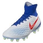 Nike Women's Magista Orden II FG (White/Bright Crimson)