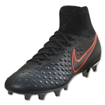 Nike Junior Magista Obra II FG (Black/Total Crimson)