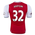 Arsenal 16/17 32 AKPOM Authentic Home Soccer Jersey