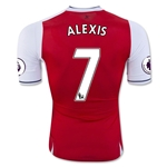 Arsenal 16/17  7 ALEXIS Authentic Home Soccer Jersey