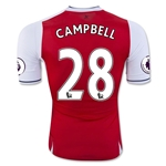 Arsenal 16/17 CAMPBELL Authentic Home Soccer Jersey