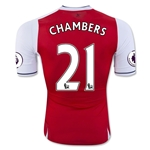 Arsenal 16/17 21 CHAMBERS Authentic Home Soccer Jersey