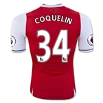 Arsenal 16/17 34 COQUELIN Authentic Home Soccer Jersey