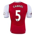 Arsenal 16/17  5 GABRIEL Authentic Home Soccer Jersey