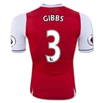 Arsenal 16/17  3 GIBBS Authentic Home Soccer Jersey