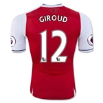 Arsenal 16/17 12 GIROUD Authentic Home Soccer Jersey