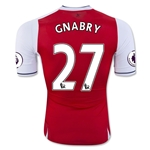Arsenal 16/17 27 GNABRY Authentic Home Soccer Jersey