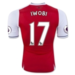 Arsenal 16/17 17 IWOBI Authentic Home Soccer Jersey