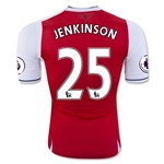 Arsenal 16/17 25 JENKINSON Authentic Home Soccer Jersey