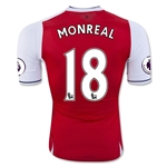 Arsenal 16/17 18 MONREAL Authentic Home Soccer Jersey