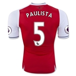Arsenal 16/17  5 PAULISTA Authentic Home Soccer Jersey