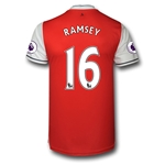 Arsenal 16/17 16 RAMSEY Authentic Home Soccer Jersey