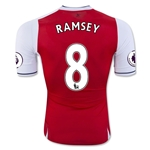Arsenal 16/17 8 RAMSEY Authentic Home Soccer Jersey