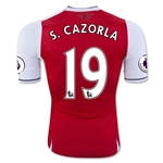 Arsenal 16/17 19 S. CAZORLA Authentic Home Soccer Jersey
