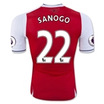 Arsenal 16/17 22 SANOGO Authentic Home Soccer Jersey
