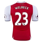 Arsenal 16/17 23 WELBECK Authentic Home Soccer Jersey