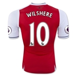 Arsenal 16/17 10 WILSHERE Authentic Home Soccer Jersey