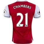 Arsenal 16/17 21 CHAMBERS Home Soccer Jersey