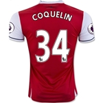 Arsenal 16/17 34 COQUELIN Home Soccer Jersey