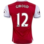 Arsenal 16/17 12 GIROUD Home Soccer Jersey