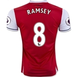 Arsenal 16/17 8 RAMSEY Home Soccer Jersey