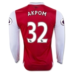 Arsenal 16/17 32 AKPOM LS Home Soccer Jersey