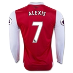 Arsenal 16/17  7 ALEXIS LS Home Soccer Jersey