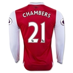 Arsenal 16/17 21 CHAMBERS LS Home Soccer Jersey
