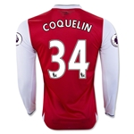 Arsenal 16/17 34 COQUELIN LS Home Soccer Jersey