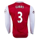 Arsenal 16/17  3 GIBBS LS Home Soccer Jersey
