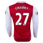 Arsenal 16/17 27 GNABRY LS Home Soccer Jersey