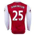Arsenal 16/17 25 JENKINSON LS Home Soccer Jersey