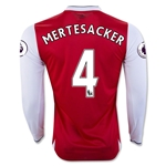 Arsenal 16/17  4 MERTESACKER LS Home Soccer Jersey