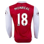 Arsenal 16/17 18 MONREAL LS Home Soccer Jersey