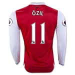 Arsenal 16/17 11 OZIL LS Home Soccer Jersey
