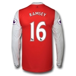 Arsenal 16/17 16 RAMSEY LS Home Soccer Jersey