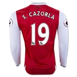 Arsenal 16/17 19 S. CAZORLA LS Home Soccer Jersey