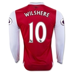 Arsenal 16/17 10 WILSHERE LS Home Soccer Jersey