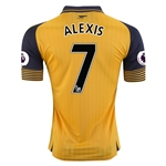 Arsenal 16/17  7 ALEXIS Away Soccer Jersey