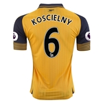 Arsenal 16/17  6 KOSCIELNY Away Soccer Jersey